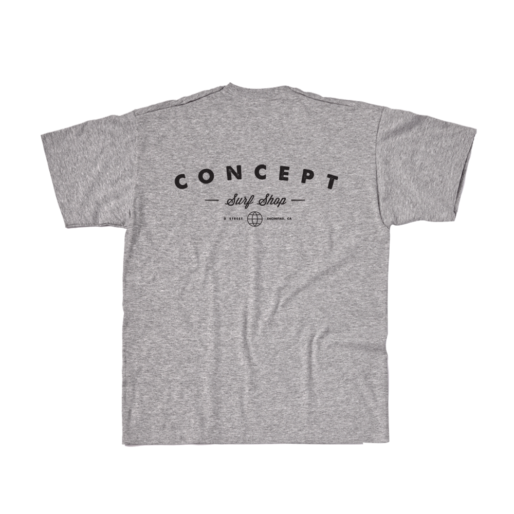 Concept Short Sleeve- Concept Original Logo Gray with Black Ink