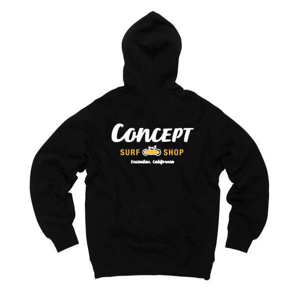 Adult  & Kids Concept Hoodie  Black/Yellow logo