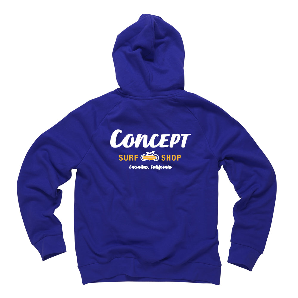 Adult & Kids Concept Hoodie Navy Blue/Yellow logo