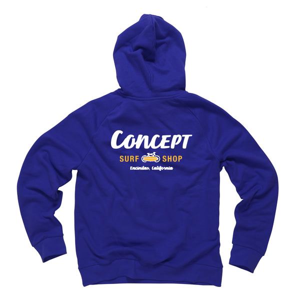 Concept Hoodie Navy Blue with Yellow & White ink