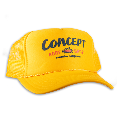 Concept Trucker Hat- Yellow