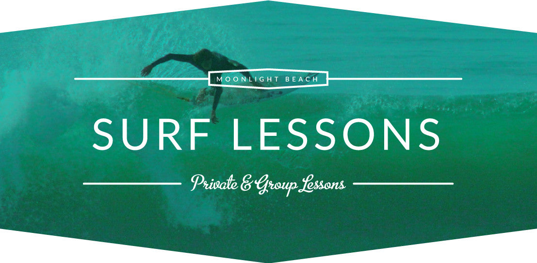 Surf lessons Moonlight Beach, Encinitas, San Diego