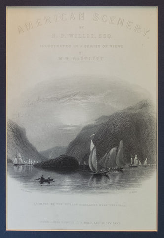 "Entrance to the Hudson Highlands near Newburgh (Frontispiece to ""American Scenery"")"