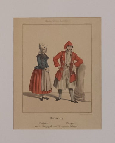 France: Fisherwoman and Fisherman from the area of Dieppe