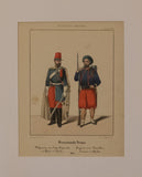 French Army: Cavalry Sergeant and Zouave Sergeant in Africa 1844