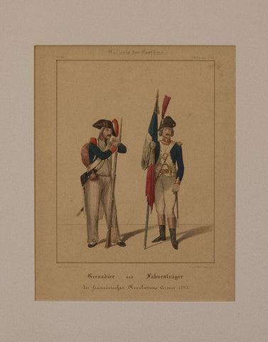 Grenadier and Flagbearer of the French Revolutionary Army