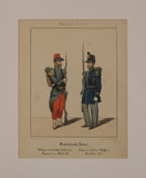French Army: Voltigeur of light infantry Regiment in Africa and Soldier from Orleans
