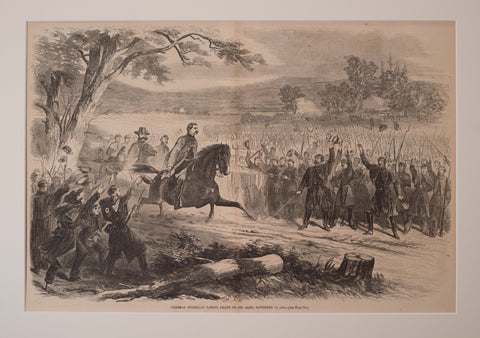 Gen. McLellan taking leave of his Army November 10, 1862