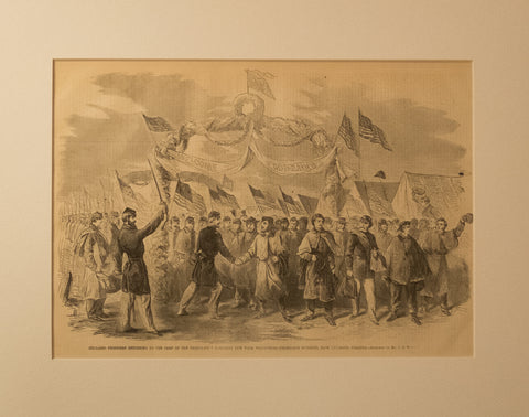 Released Prisoners returning to the Camp of the 31st Regiment New York Volunteers from Richmond, Virginia