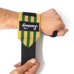 Starkerz Wrist Wraps (Elastic) Green and Yellow