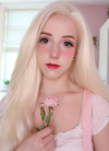 Straight White Platinum Blonde Lace Front Synthetic Wig LF330 - Wig Is Fashion