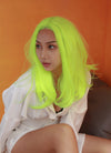 Neon Yellow Straight Bob Lace Front Synthetic Wig LF475 - Wig Is Fashion