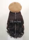 Camel Beret With Wavy Brunette Hair Attached CW003 - Wig Is Fashion