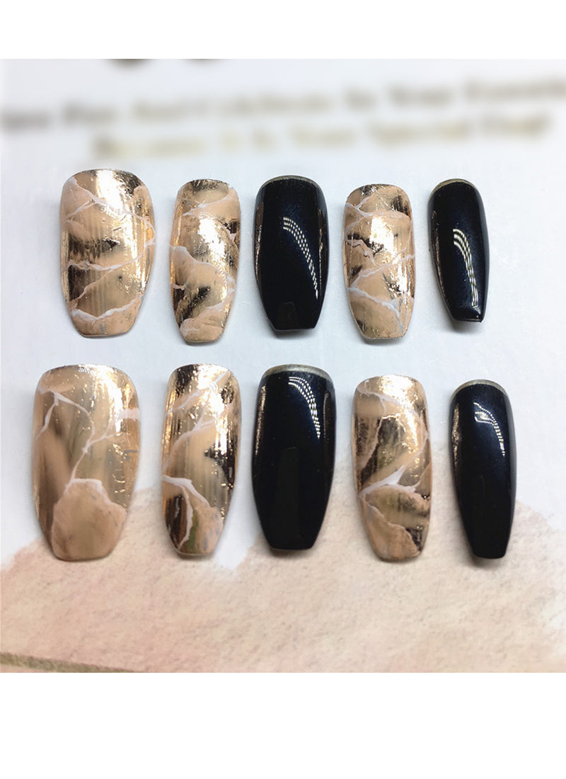 Coffin Press-On Nails FN024
