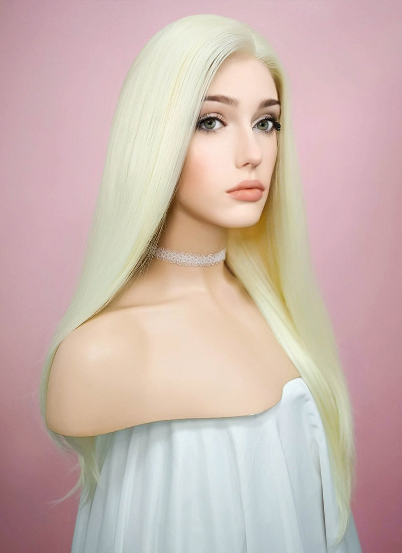 Straight Light Blonde Lace Front Synthetic Wig LF010 - Wig Is Fashion