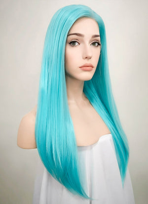 Straight Light Blue Lace Front Synthetic Wig LF036 - Wig Is Fashion