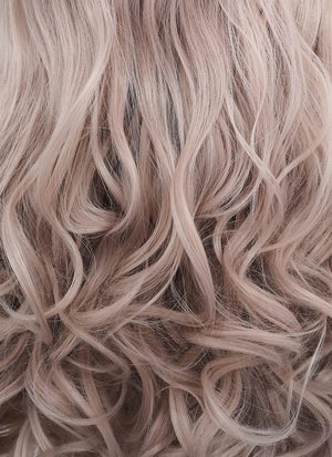 Pastel Pale Plum Wavy Lace Front Synthetic Wig LF085J - Wig Is Fashion