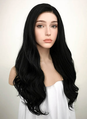 Wavy Black Lace Front Synthetic Wig LF110 - Wig Is Fashion