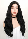 Wavy Natural Black Lace Front Synthetic Wig LF112 - Wig Is Fashion