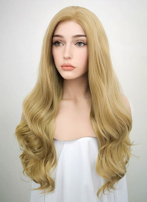 Wavy Golden Blonde Lace Front Synthetic Wig LF119 - Wig Is Fashion