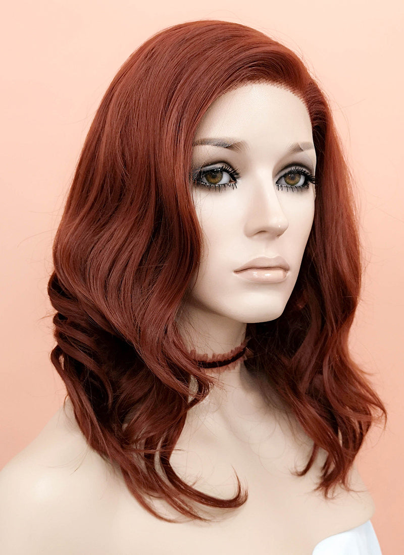 Auburn Wavy Lace Front Synthetic Wig LF1257 - Wig Is Fashion