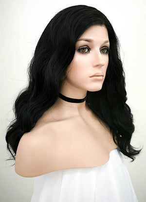 Black Wavy Lace Front Synthetic Wig LF1262 - Wig Is Fashion