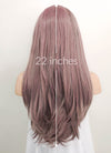 Ash Purple Straight Lace Front Synthetic Wig LF1299 - Wig Is Fashion