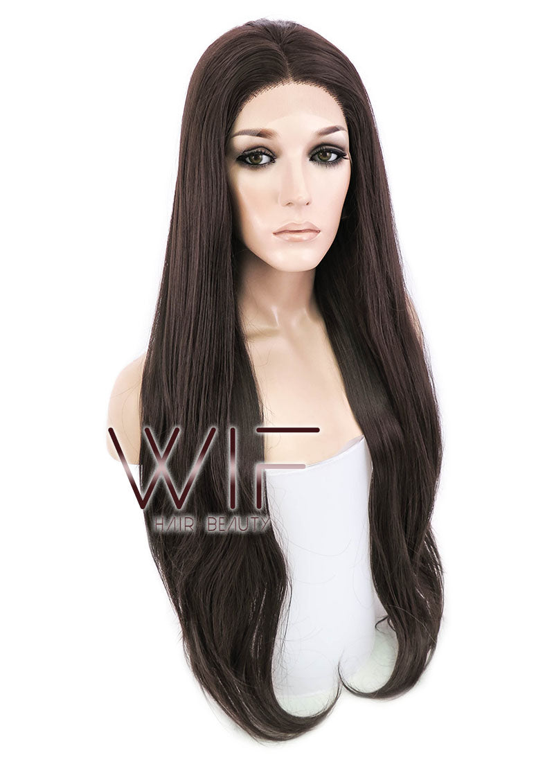 Brunette Straight Lace Front Synthetic Wig LF150E - Wig Is Fashion