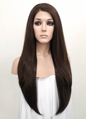 Brunette Straight Lace Front Synthetic Wig LF150