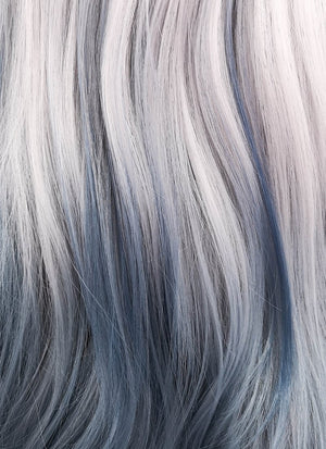 Wavy Pastel Two Tone Grey Lace Front Synthetic Wig LF1517 - Wig Is Fashion