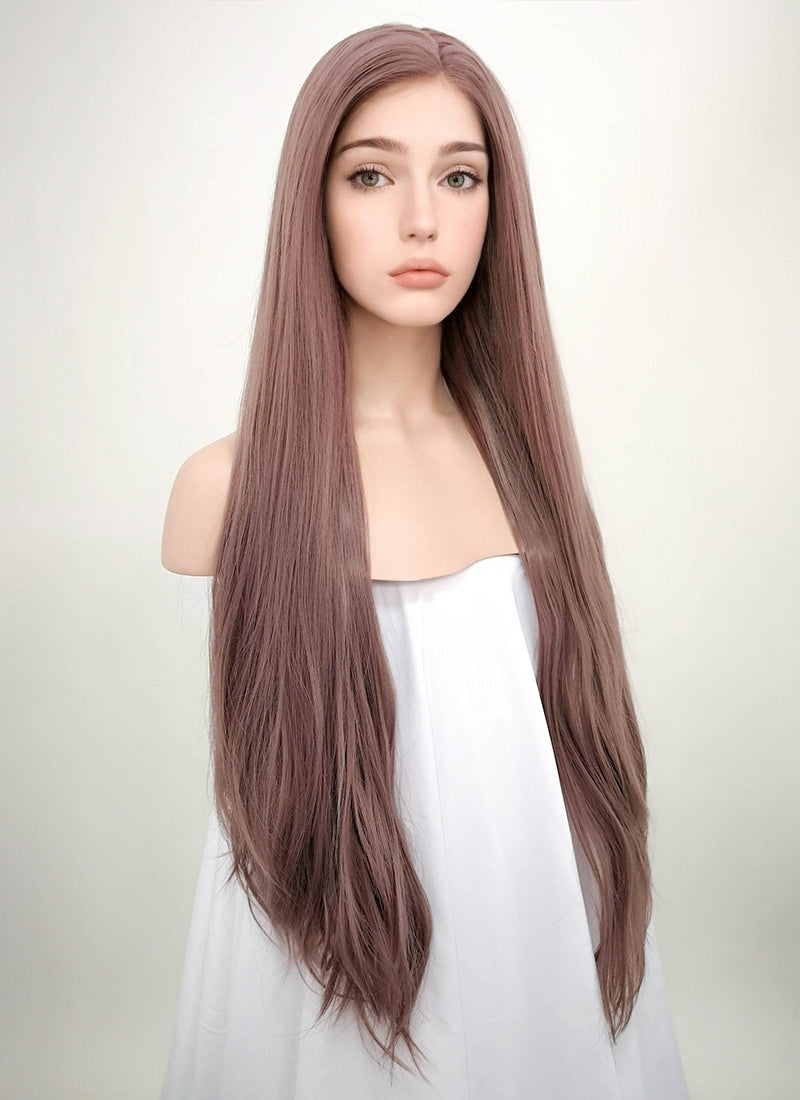 Straight Ash Purple Lace Front Synthetic Wig LF1587 - Wig Is Fashion