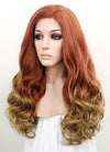 Auburn Blonde Ombre Wavy Lace Front Synthetic Wig LF1707 - Wig Is Fashion