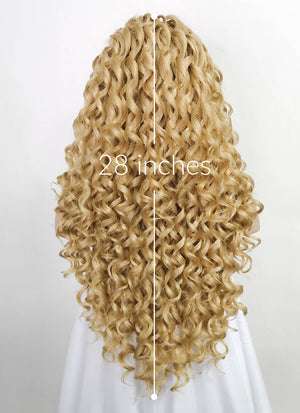 Blonde Curly Lace Front Synthetic Wig LF174