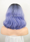 Blue With Dark Roots Wavy Bob Lace Front Synthetic Wig LF1781