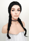 Black French Braid Lace Front Synthetic Wig LF2006 - Wig Is Fashion