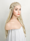 Wavy Light Ash Blonde Braided Lace Front Synthetic Wig LF2021 - Wig Is Fashion