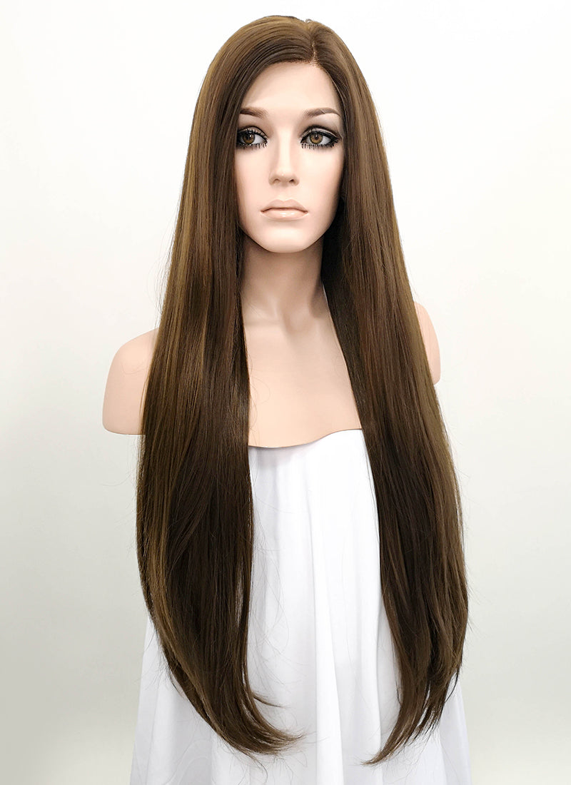 Brunette Straight Lace Front Synthetic Wig LF242 - Wig Is Fashion