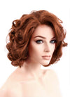 Auburn Wavy Bob Lace Front Synthetic Wig LF253 - Wig Is Fashion