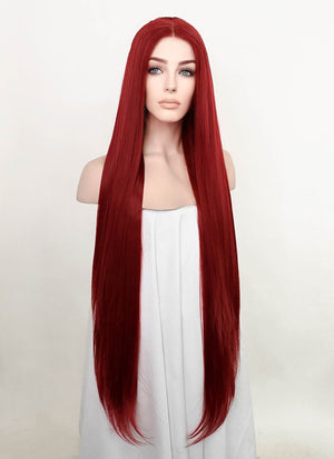 Red Straight Lace Front Synthetic Wig LF3201