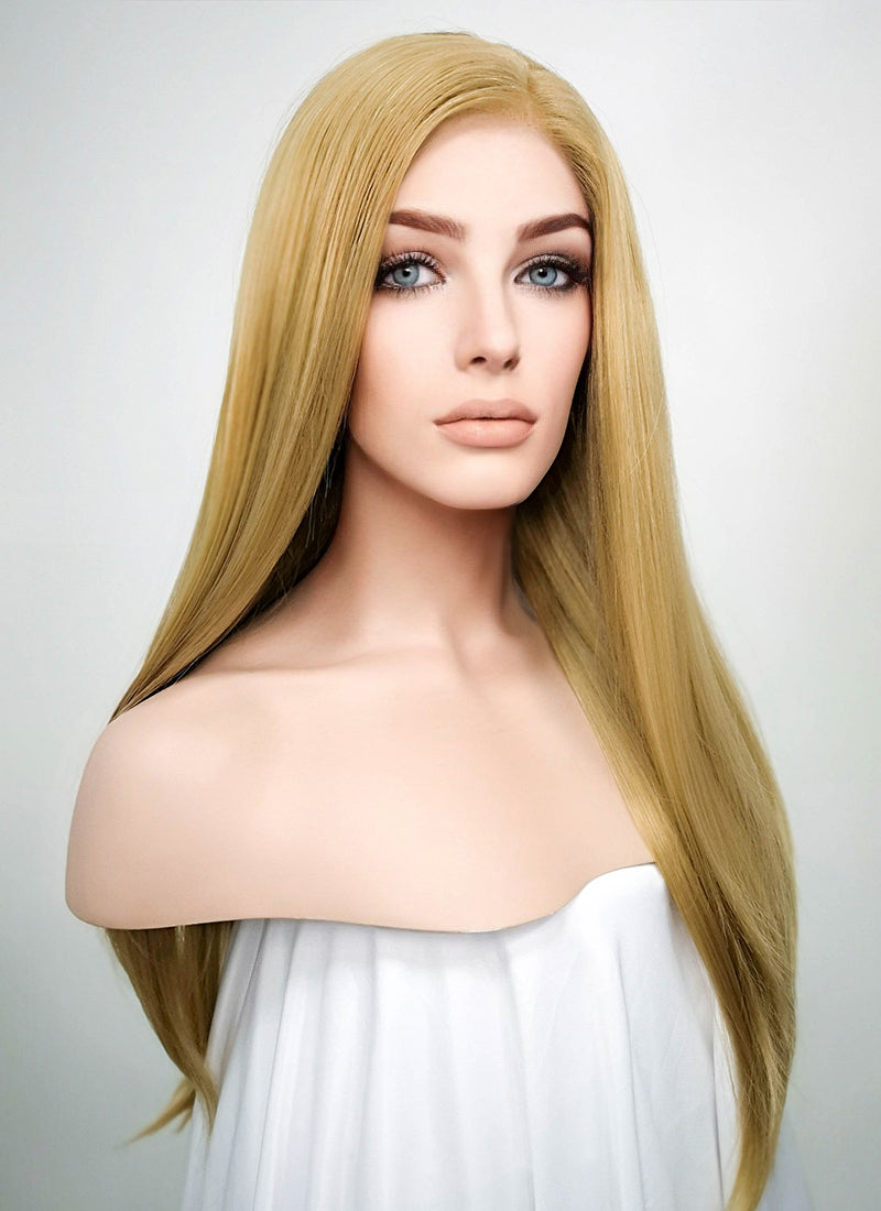 Straight Medium Blonde Lace Front Synthetic Wig LF331 - Wig Is Fashion