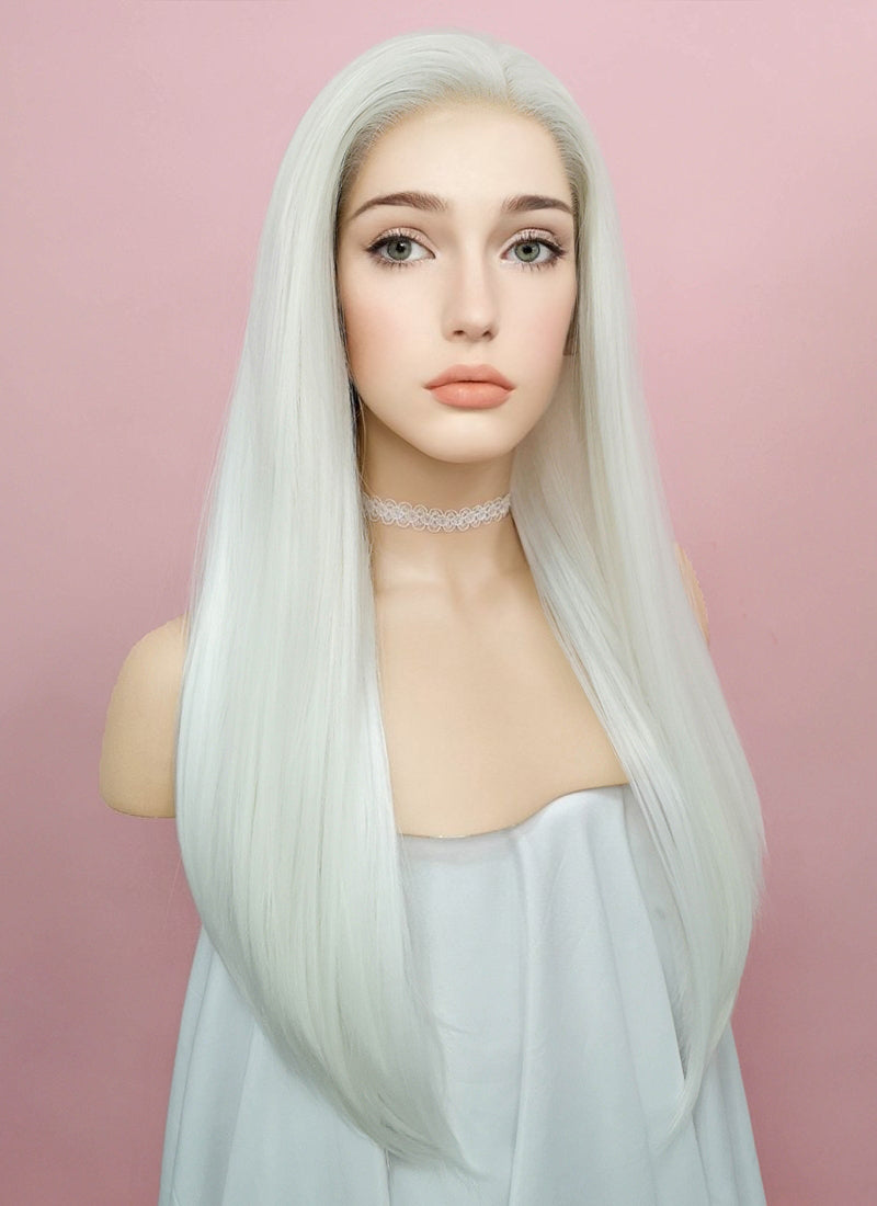 Straight White Lace Front Synthetic Wig LF387 - Wig Is Fashion