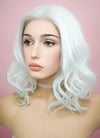 White Wavy Bob Lace Front Synthetic Wig LF405 - Wig Is Fashion