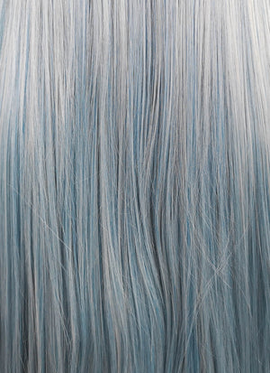 Ash Blue Straight Lace Front Synthetic Wig LF5006 - Wig Is Fashion