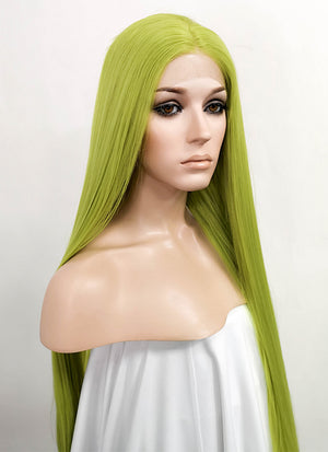 Green Straight Lace Front Synthetic Wig LF5030