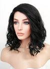 Black Wavy Bob Lace Front Synthetic Wig LF5046