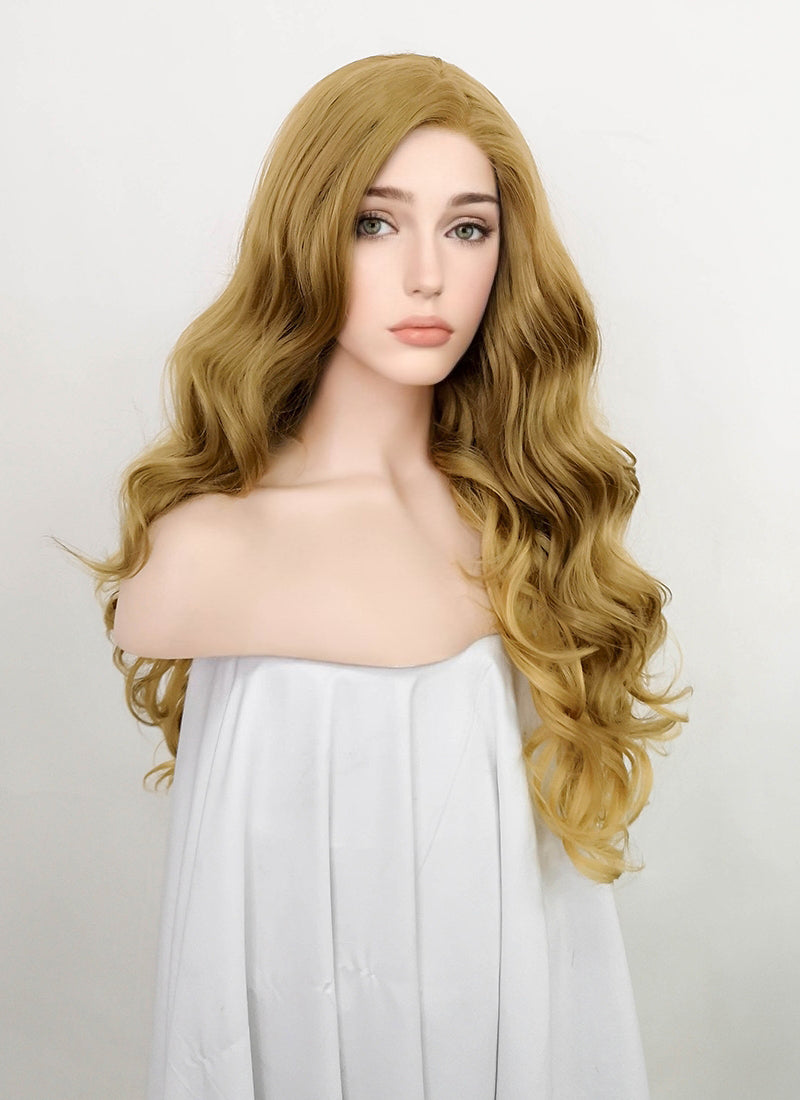 Golden Blonde Wavy Lace Front Synthetic Wig LF5065