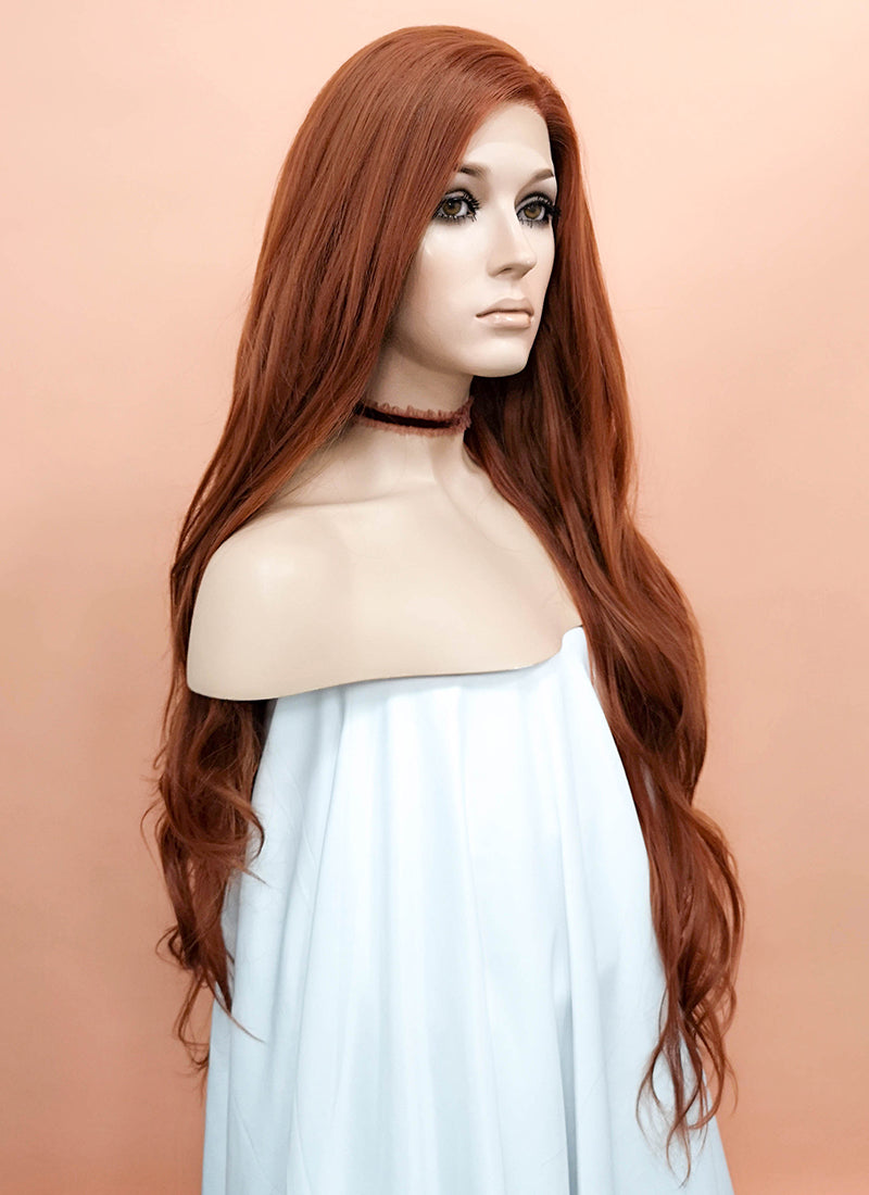 Auburn Wavy Lace Front Synthetic Wig LF640C - Wig Is Fashion