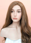 Chestnut Brown Wavy Lace Front Synthetic Wig LF667J - Wig Is Fashion