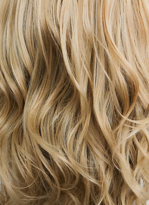 Ash Blonde With Dark Roots Wavy Lace Front Synthetic Wig LF697 - Wig Is Fashion