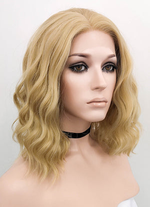 Blonde Wavy Bob Lace Front Synthetic Wig LF831C